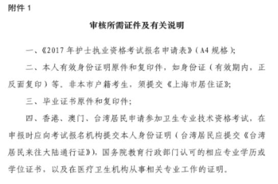 上海市2017年全国护士执业资格考试报名流程