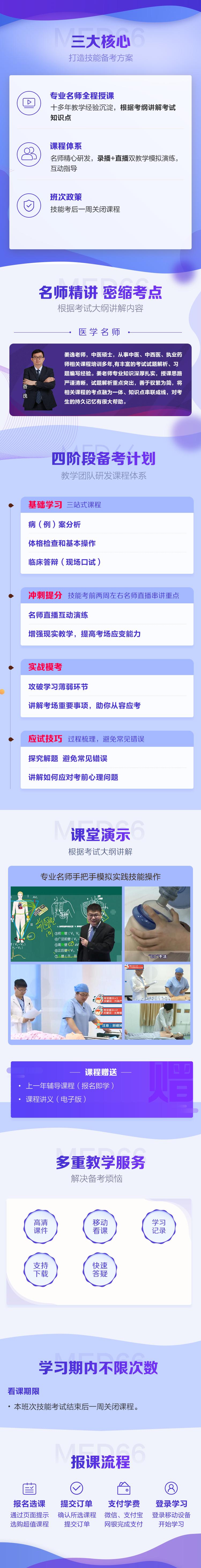 医学教育网中西医助理医师技能特色班【全科】